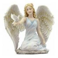 Quality Christmas ornament resin angel statue for sale