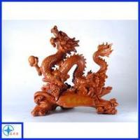 Quality polyresin artificial wood dragon sculpture for sale