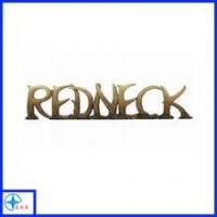 Quality Custom your own design decorative bronze resin letters for sale