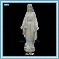 Statue white marble statue of mother mary