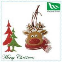 Quality DIY Cute Elk Christmas decoration paper tag for sale