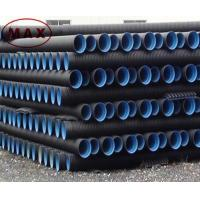 Quality Material pe 100 black double wall corrugated pipe for sale