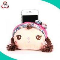 custom fashion plush girl doll cellphone holder