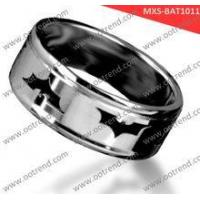 Quality Pretty Brushed domend men stainless steel rings for sale