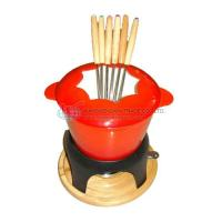 Quality CAST IRON FONDUE SET WSX 606E RED for sale