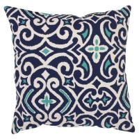 Quality Decorative Accessories Pillow Perfect Decorative Blue/ White Damask Square Toss Pillow for sale