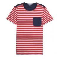 Quality mens yarn dyed chest pocket crew t-shirt for sale