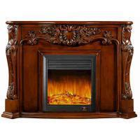 China Blender Electrical Home Decoration Classic Solid Wood Fireplaces With LED Light on sale