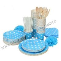 PRODUCT White dot printing tableware set paper party tableware set