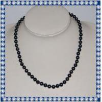 Quality 7mm round AA 18inch fashion chunky pearl necklace for sale