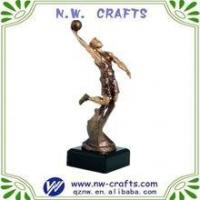 Quality Custom basketball resin trophy figures for sale