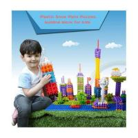 China 400 pcs Plastic Snow Plate Puzzles, building block for kids on sale