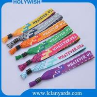 Event Festival Cheap Custom Polyester Woven Fabric Wristband For Sale