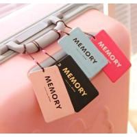 2016 Fashion promotional customized silicone luggage tag