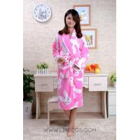 Women Cute Rabbit Pink Fleece Robe