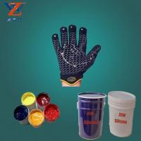 Silicone printing ink for glove