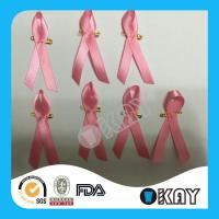 China Awareness Ribbon Custom Breast Cancer Pink Ribbon on sale