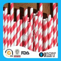 Buy cheap Red Striped Paper Straws from Wholesalers