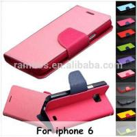 China Cell Phone Magnetic Wallet Card Holder Leather Flip Case Cover for iphone 6 Plus / 6/ 5/5s/4/4s/5C on sale