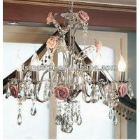 Quality Rose crystal droplight for sale