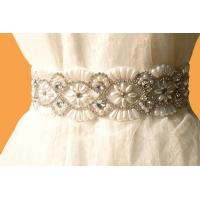 Quality Bridal Accessories / Crystal Rhinestone Bridal Sash / Vintage /Royal Steyle for sale