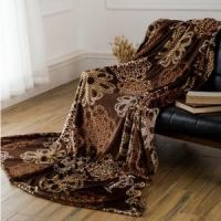 Buy cheap Brown Hollow Out Pattern Printed Flannel Blankets Blankets & Throws from Wholesalers