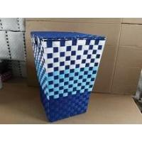Quality Colorful handmade woven plastic toy storage bins for sale