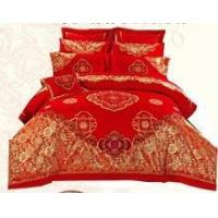 Quality Textile wedding red linens, bedding wedding satin sheets for sale