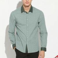 new style long sleeve floral pattern 100% cotton shirt men wholesale Alibaba China OEM factory