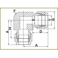 Buy cheap Double ferrule bent-through fittings 2-W from Wholesalers