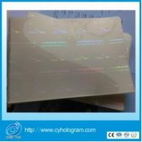 Security Hologram Laminating Pouches Security Hologram