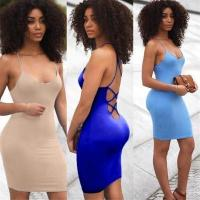 3 Color Stylish Mini Dress with Tie Up back XD602 #XD602