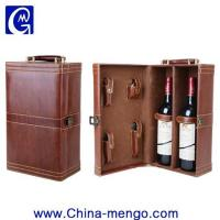 Buy cheap Two Bottle Of Whiskey Packing PU Leather Wine Box from Wholesalers