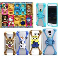 Quality Christmas gift 3D cartoon universal silicone bumper case for mobile phone for sale