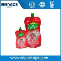 Beverage packaging shape pouch with spout for apple juice