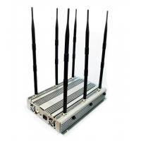 Buy cheap Adjustable Powerful 70W Desktop 2G 3G 4G Phone Jammer Up to 100 Meters from wholesalers