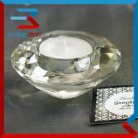 Quality Wholesale Wedding Giveaway Gifts Crystal Diamond Tea light Holder for sale