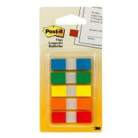 Post-it Flags, Assorted Primary Colors, 1/2 in Wide, 100/On-the-Go Dispenser