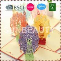 Quality 3D Pop-Up Sky Wheel Greeting & Gift Cards for sale