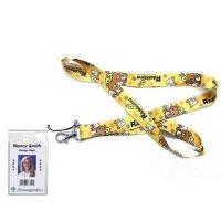 Quality Rilakkuma Bear Lanyard Keychain with Clear Badge Holder for sale