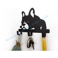 Quality DOG metal key hook Wall mounted metal key holder in black finish for sale