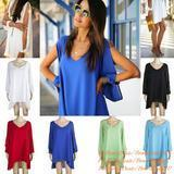 Quality Female Chiffon V-Neck Long sleeve Hollow Western Style Solid Sexy Loose Dress for sale