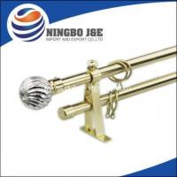 Buy cheap Fancy Window Curtain Rod With Glass Curtain Finial from wholesalers