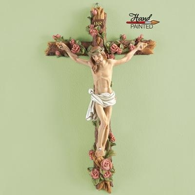 Buy Hand-painted Crucifix Wall Decor at wholesale prices