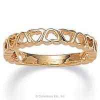 Quality Band of Hearts 14K Gold-Plated Ring for sale