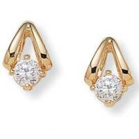Quality Gifts (1725) Diamonultra(tm); Cz14k Gold-plated Earrings for sale