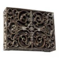 Carved Scroll Cabinet Doorbell w Renaissance Crackle