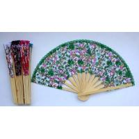 Quality 2015720133437chinese silks flower wooden fan New for sale