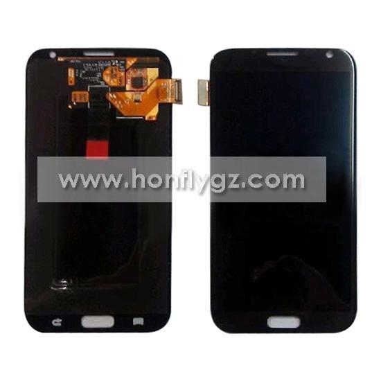 China LCD with touch screen for Samsung Galaxy Note II N7100 Gray
