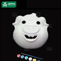 Quality White DIY Painting Paper Mache Mask(Piggy) for sale